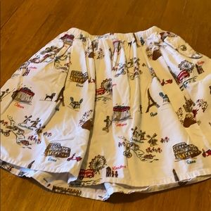 Gymboree Size 9 Corduroy White with Cities Skirt